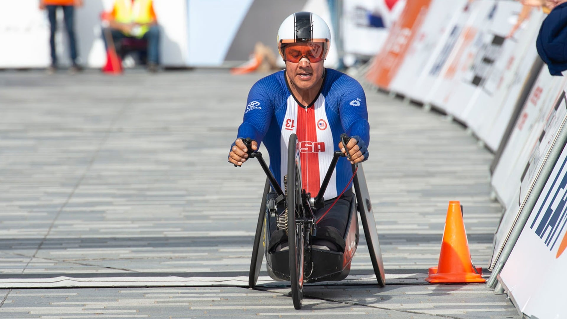 Three-time Paralympic handcyclist Oz Sanchez