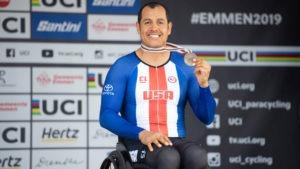 Three-time Paralympic handcyclist Oz Sanchez