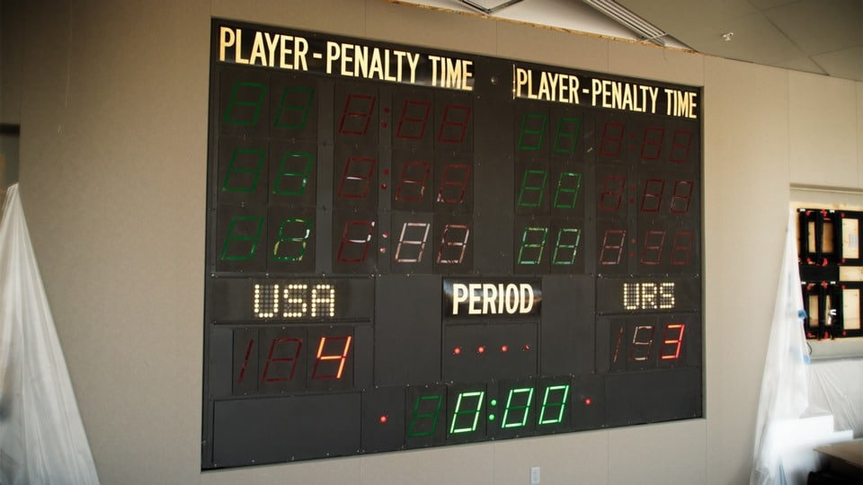 Scoreboard Panel from Lake Placid 1980 Olympic Winter Games