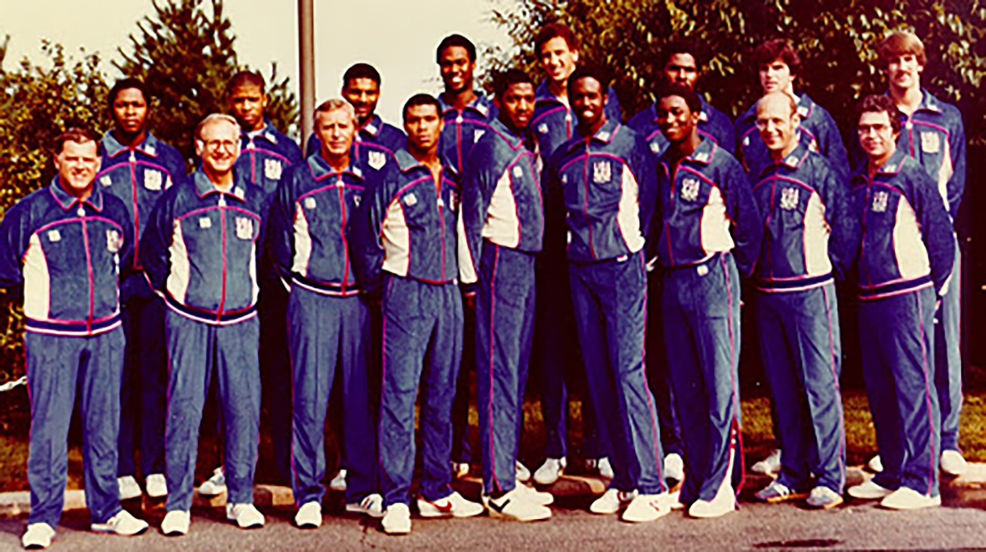Isiah Thomas is part of the 1980 U.S. Olympic Men's Basketball Team photo