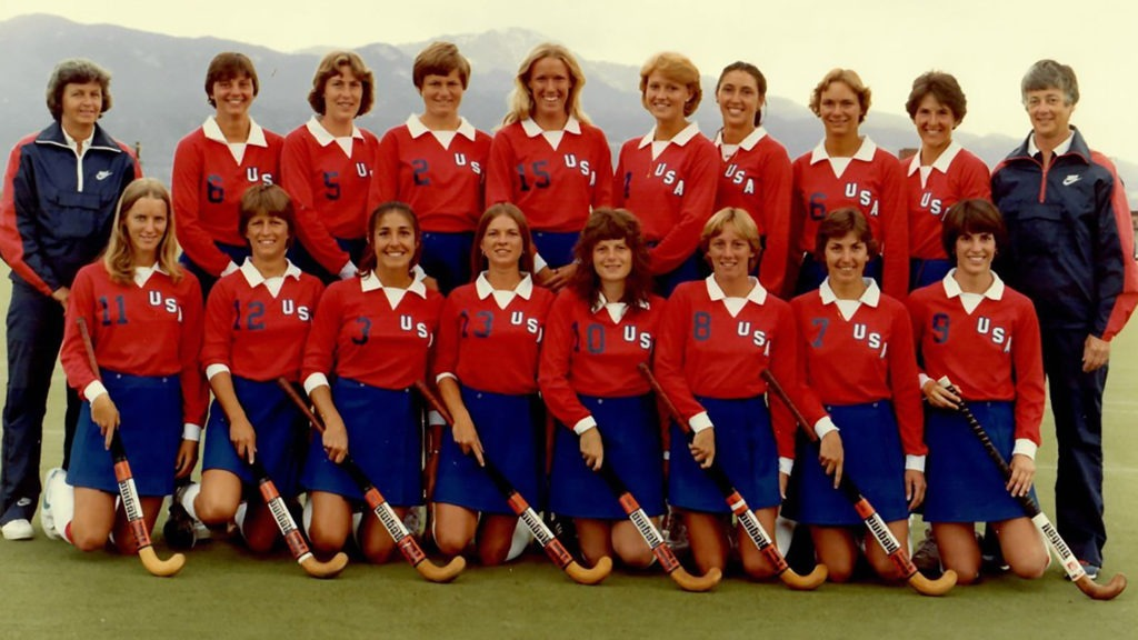The 1980 U.S. Olympic Field Hockey Team photo