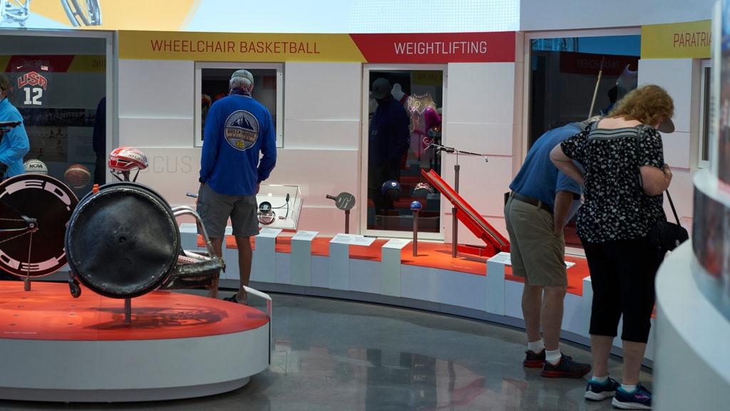 Guests enjoy the Summer Games exhibit