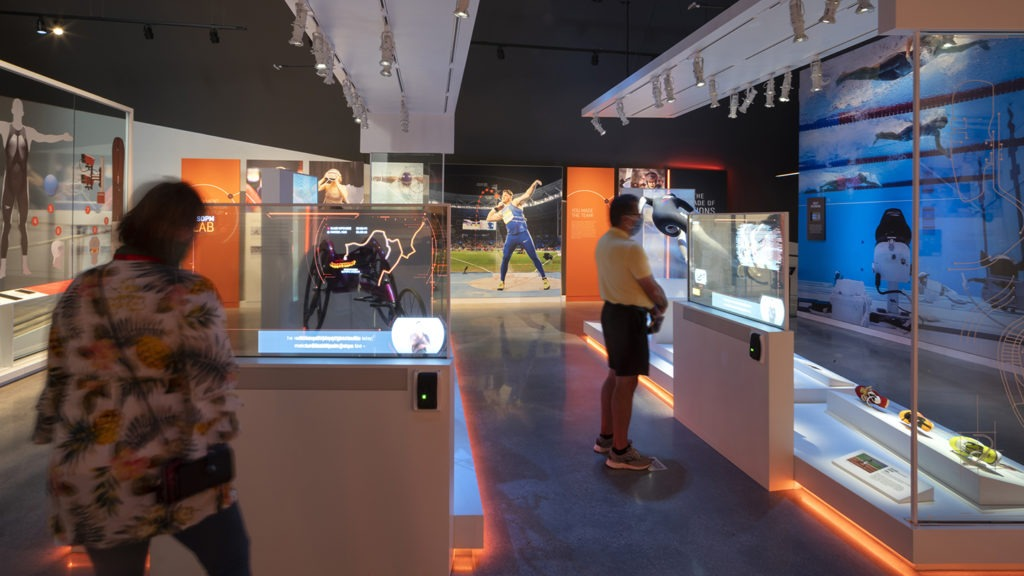 Guests explore exhibits in the Museum