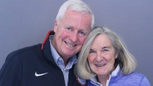 Marcia and Jack Mathias smile for a photo