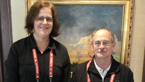 Susan Broome and John Stillings pose for a photo at the Broadmoor