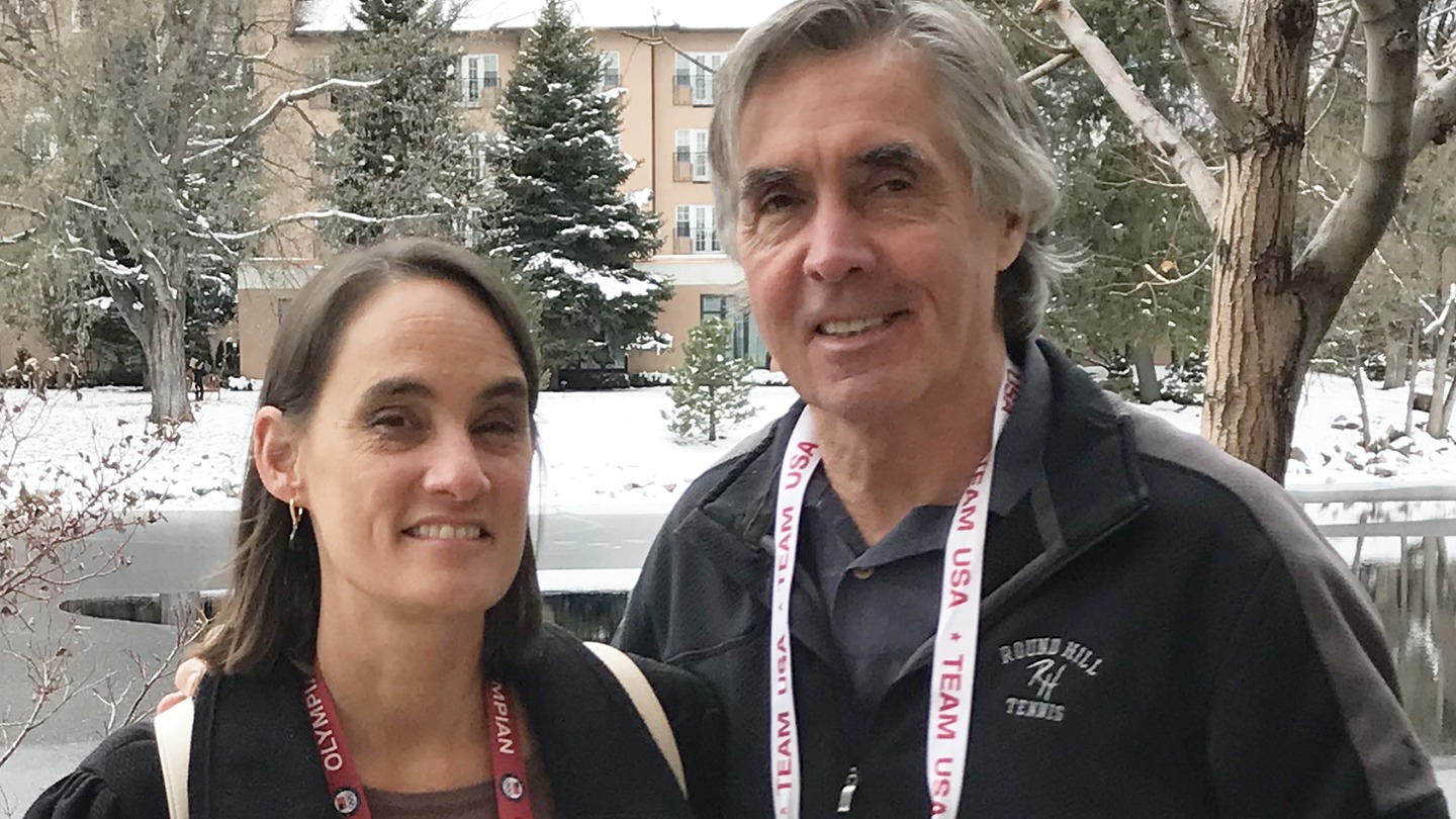 Tracee Talavera and Mike Lynch pose for a photo at the Broadmoor