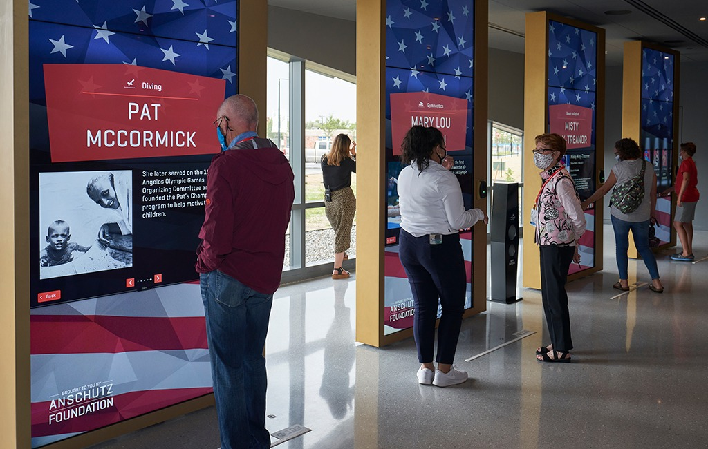 Guests learn about members of the U.S. Olympic & Paralympic Hall of Fame
