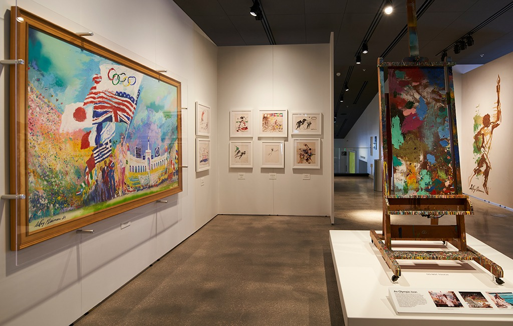 LeRoy Neiman photos are on display