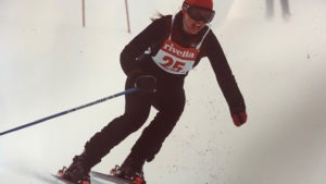 Cindy Castellano skis down the course