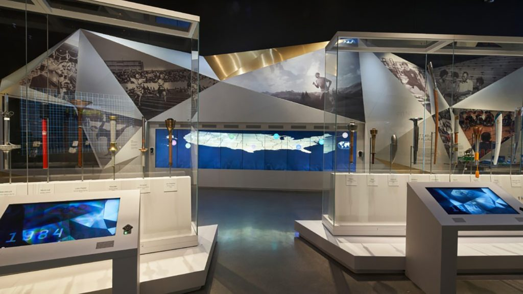 Interior shot of the United States Olympic and Paralympic Museum.